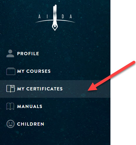Meine AIDA Zertifikate